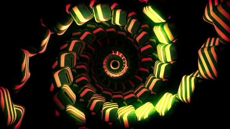 Spiral Cubes Vj Loop: Stock Motion Graphics