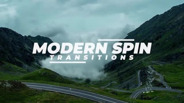 Modern Spin Transitions: Premiere Pro Presets