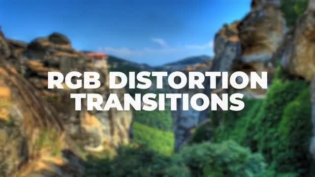 RGB Distortion Transitions: After Effects Presets