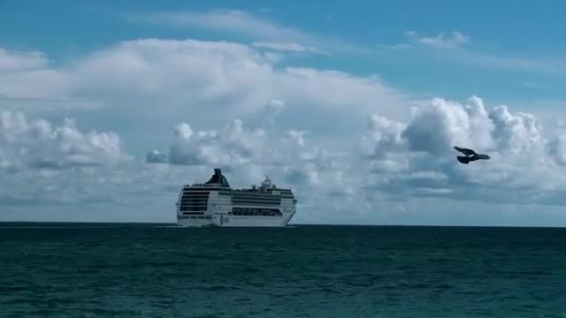 Cruise Ship Time-Lapse: Stock Video