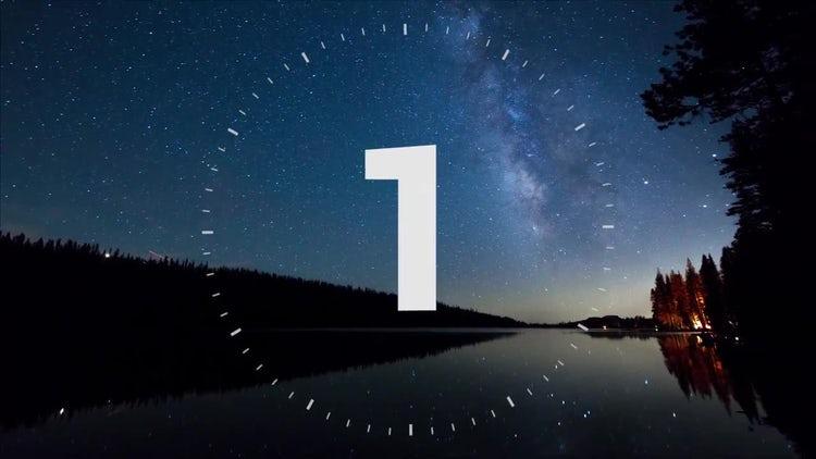 Simple photo countdown: Premiere Pro Templates