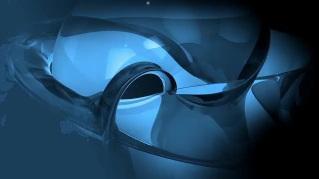 Fractal Blue Background: Stock Motion Graphics