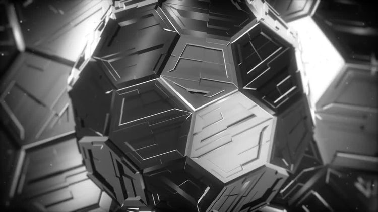 Abstract Techno Sphere: Stock Motion Graphics