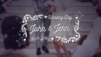 Romantic Wedding Titles Pack: After Effects Templates
