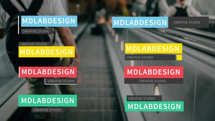 Colorful Lower Thirds: After Effects Templates