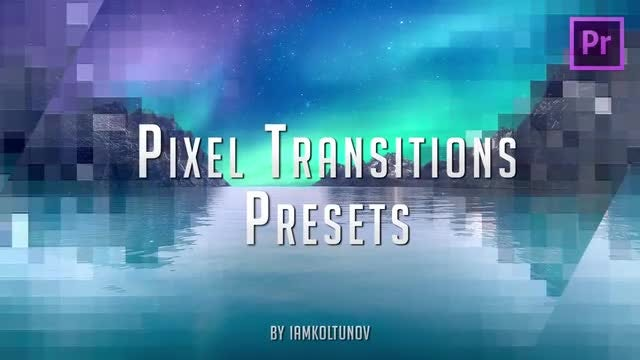 In Pixel Transitions Presets Pack 8: Premiere Pro Presets