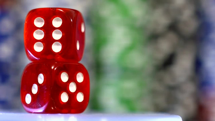 Red Dice: Stock Video