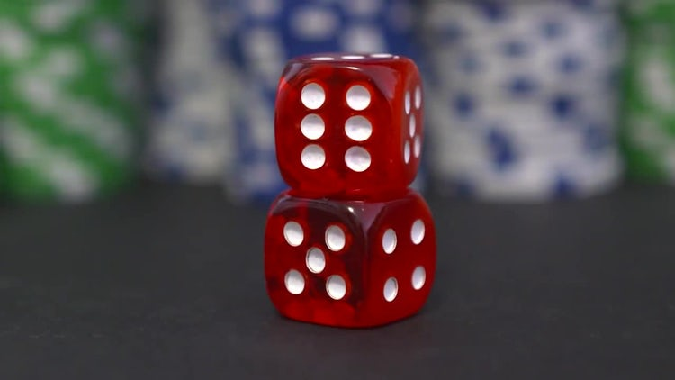 Two Red Dice: Stock Video