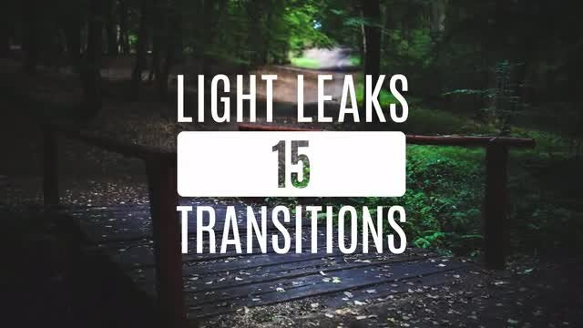 15 Light Leaks: Stock Video