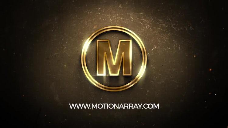 Golden Logo: After Effects Templates