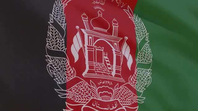 Afghanistan Flag: Stock Motion Graphics