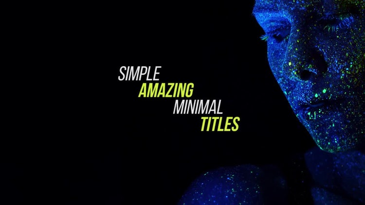 Simple & Miminal Titles: Premiere Pro Templates
