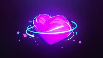 Glow Heart: Motion Graphics