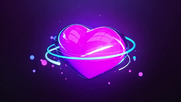 Glow Heart: Stock Motion Graphics
