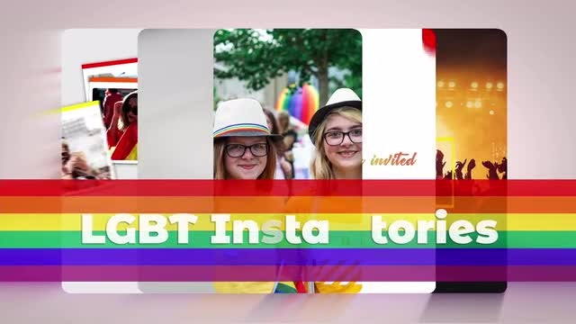 LGBT Instagram Stories: After Effects Templates