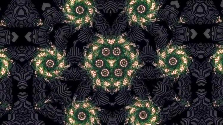 Glowing Spirals Kaleidoscope: Stock Motion Graphics