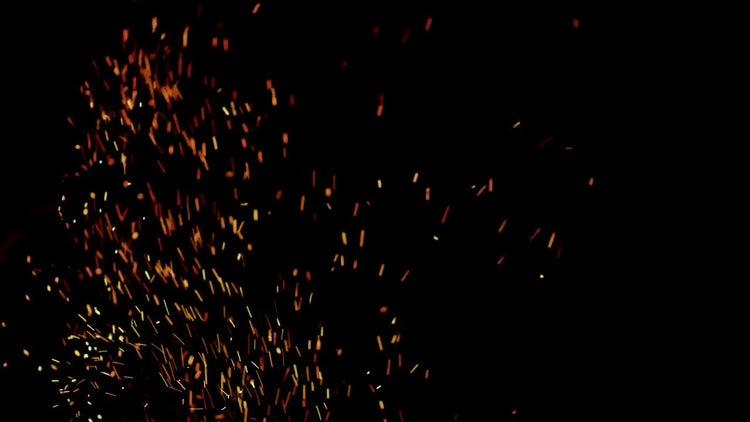 4K Fire Embers 05: Stock Video