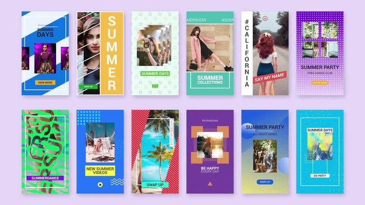 Summer Instagram Stories: Premiere Pro Templates