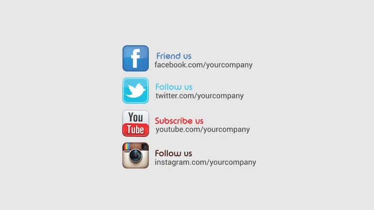 Social Promotion Logo Opener: After Effects Templates