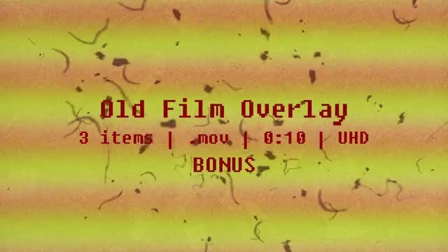 Old Film Overlay Pack: Stock Motion Graphics