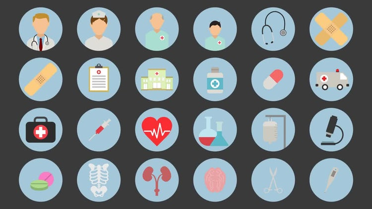 Medical Icons: After Effects Templates