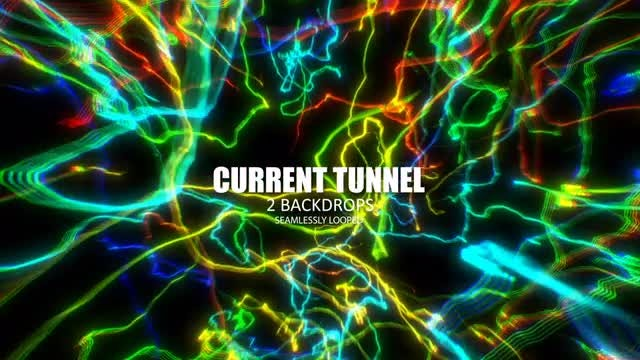 Electric Tunnel: Stock Motion Graphics