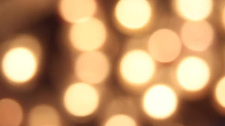 Golden Bokeh Background: Stock Video