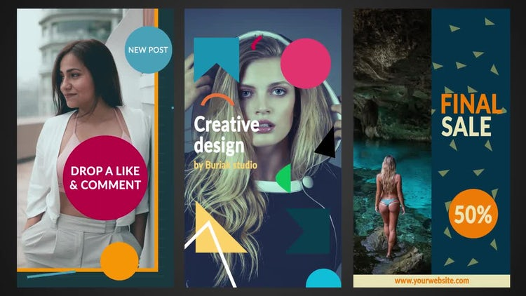 Geometrical Stories: Motion Graphics Templates