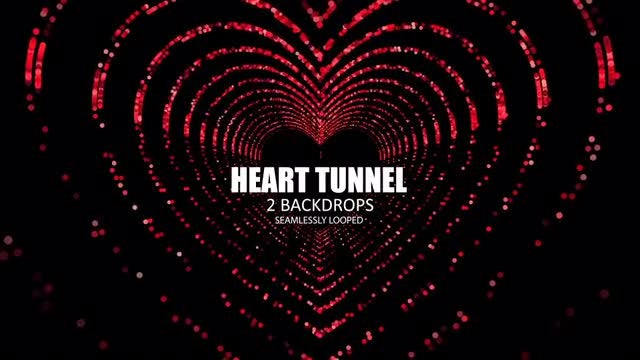 Heart Tunnel: Stock Motion Graphics