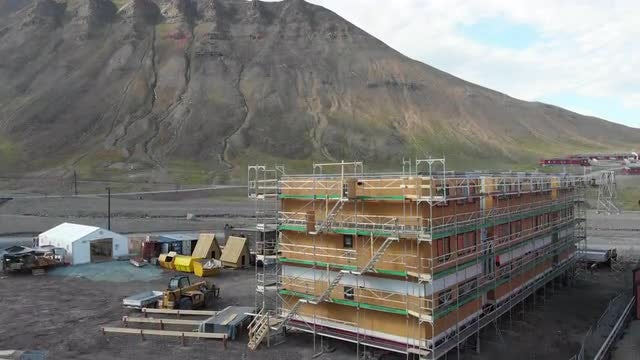 Construction Of A Building: Stock Video