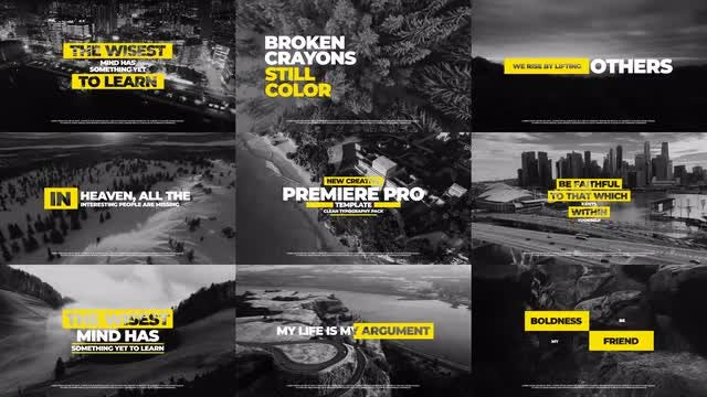 Typography Titles: Premiere Pro Templates