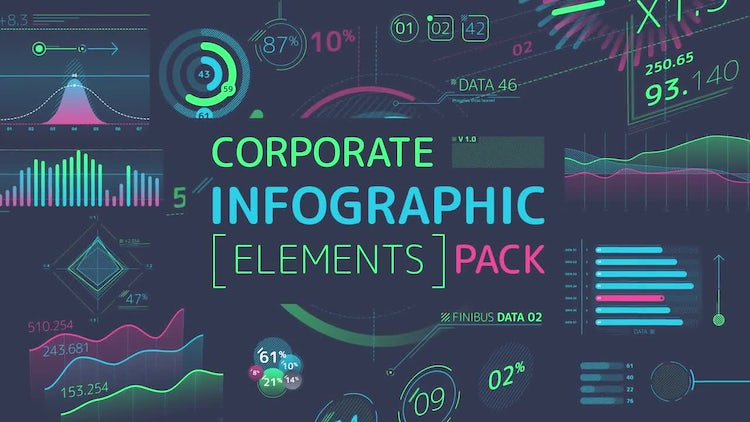 Corporate Infographic Elements Pack - Stock Motion Graphics