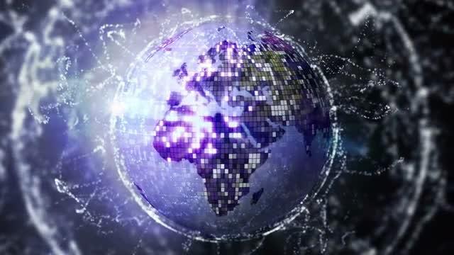 Earth Disco Ball Loop: Stock Motion Graphics