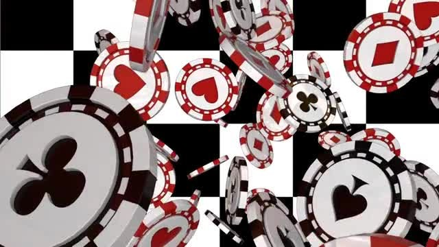 Falling Poker Chips Loop: Stock Motion Graphics