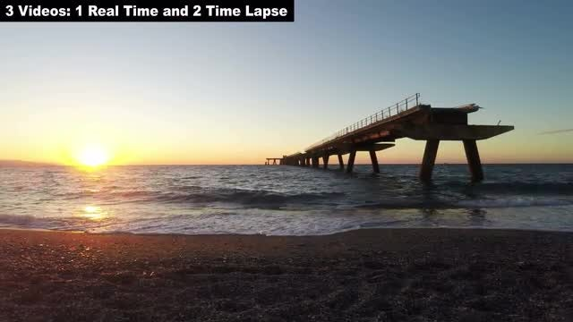 Old Wharf Time-Lapse: Stock Video