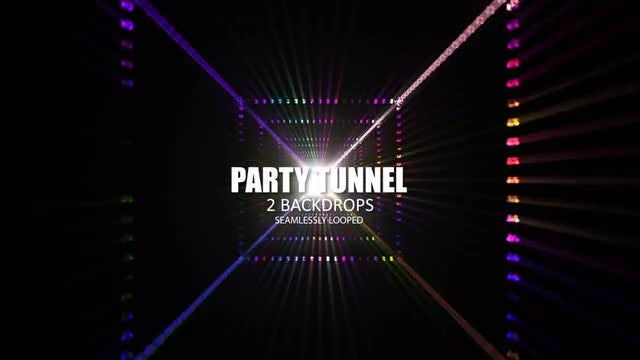 Party Tunnel: Stock Motion Graphics