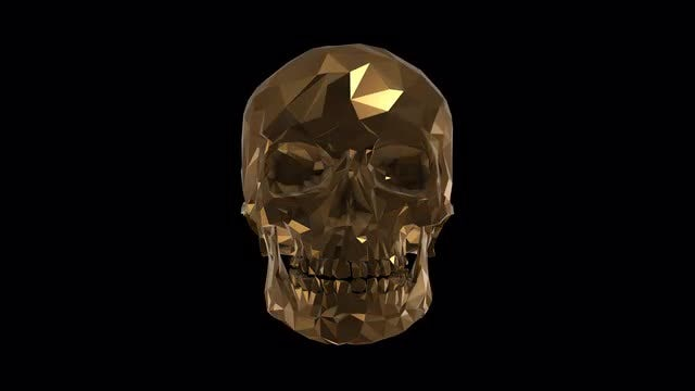Low Poly Skull: Stock Motion Graphics