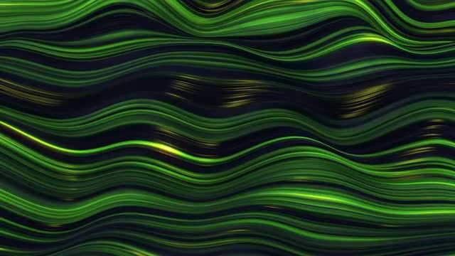 Green Waves: Stock Motion Graphics