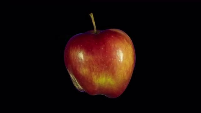 Isolated Red Apple: Stock Video