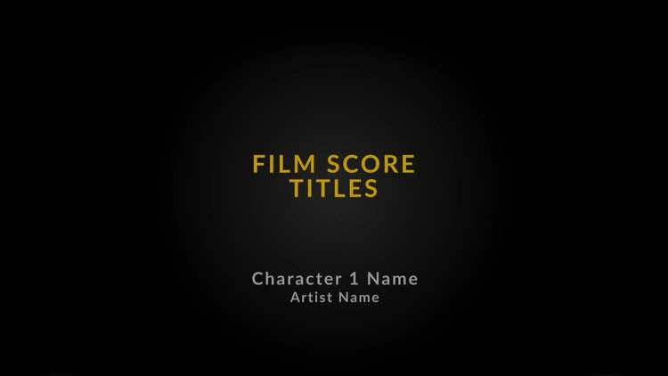 Score Film Title: After Effects Templates