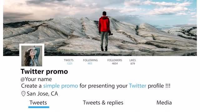 Simple Twitter promo: Premiere Pro Templates