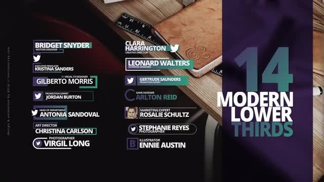 14 Modern Lower Thirds: After Effects Templates
