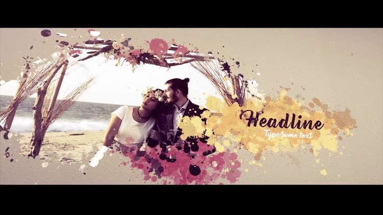 Ink Drops Inspirational Slideshow: After Effects Templates