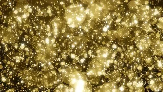 Golden Rain Bokeh: Stock Motion Graphics