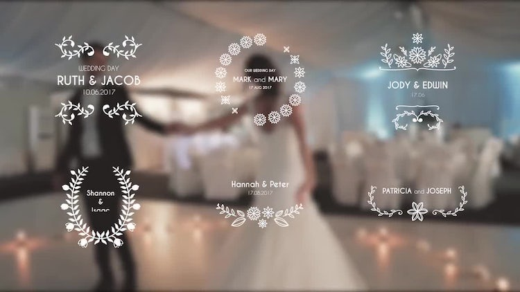 Blooming Wedding Titles: Premiere Pro Templates