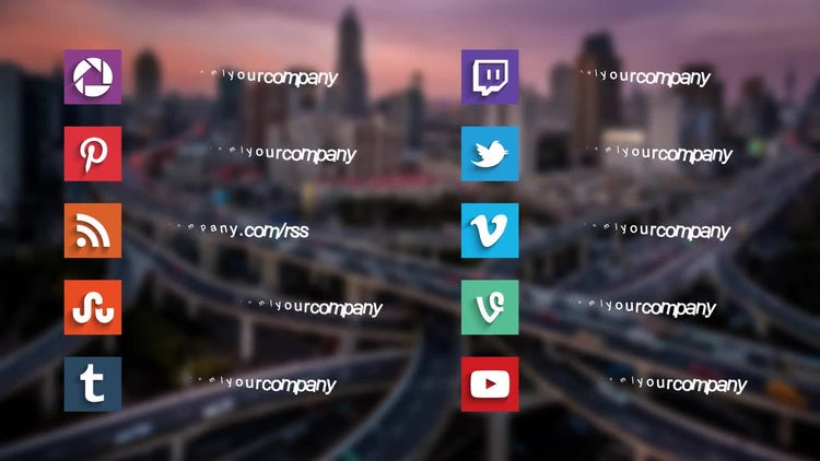 20 Social Media Titles : After Effects Templates