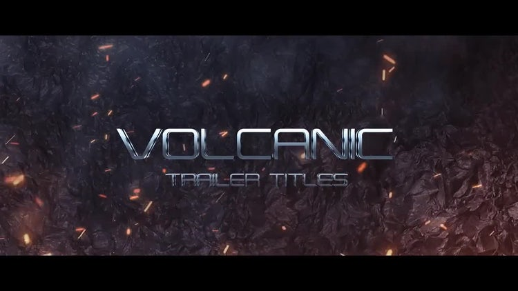 Volcanic Trailer Titles: After Effects Templates
