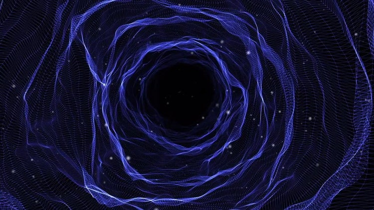 Space Tunnel With Stars: Motion Graphics