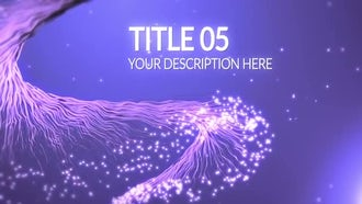 Particle Titles: After Effects Templates