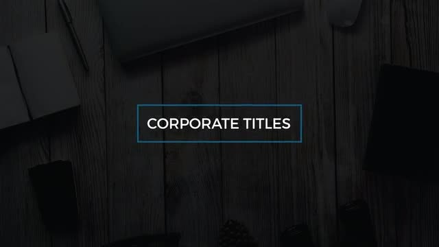 14 Corporate Titles: After Effects Templates